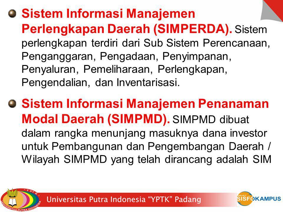 Sistem Informasi Manajemen Perlengkapan Daerah (SIMPERDA)