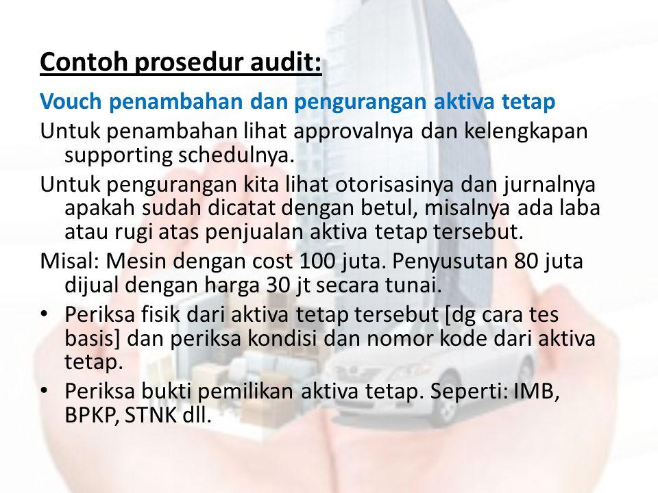 Contoh prosedur audit: