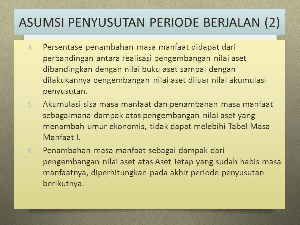 ASUMSI PENYUSUTAN PERIODE BERJALAN (2)