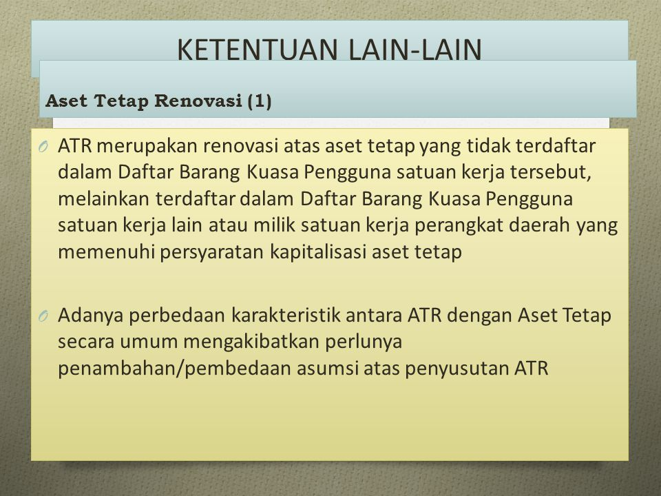 KETENTUAN LAIN-LAIN Aset Tetap Renovasi (1)