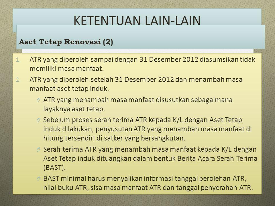 KETENTUAN LAIN-LAIN Aset Tetap Renovasi (2)