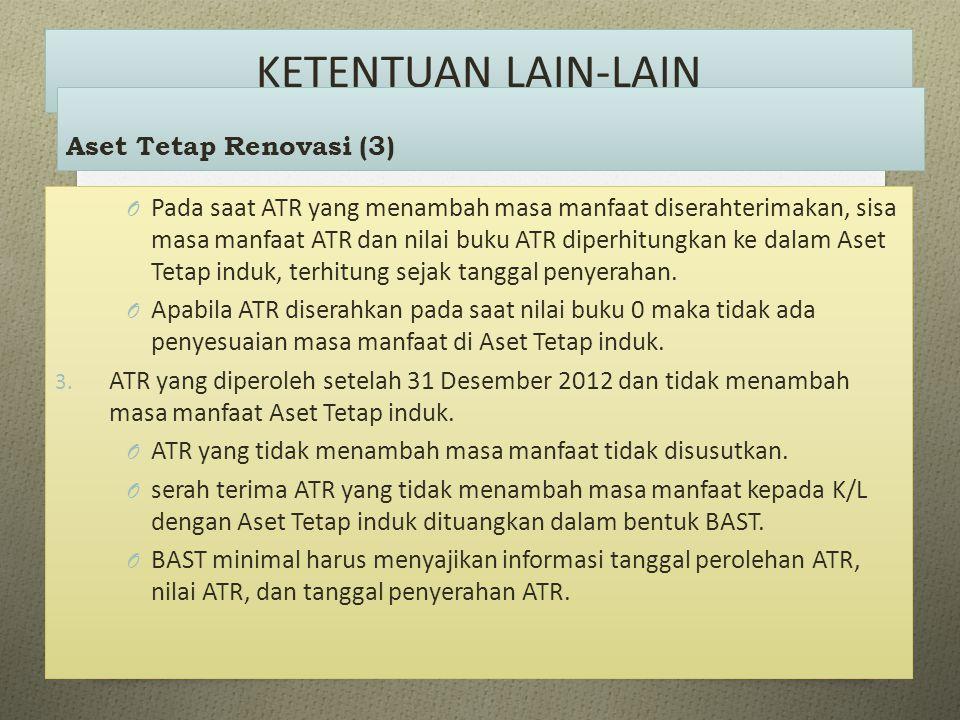 KETENTUAN LAIN-LAIN Aset Tetap Renovasi (3)