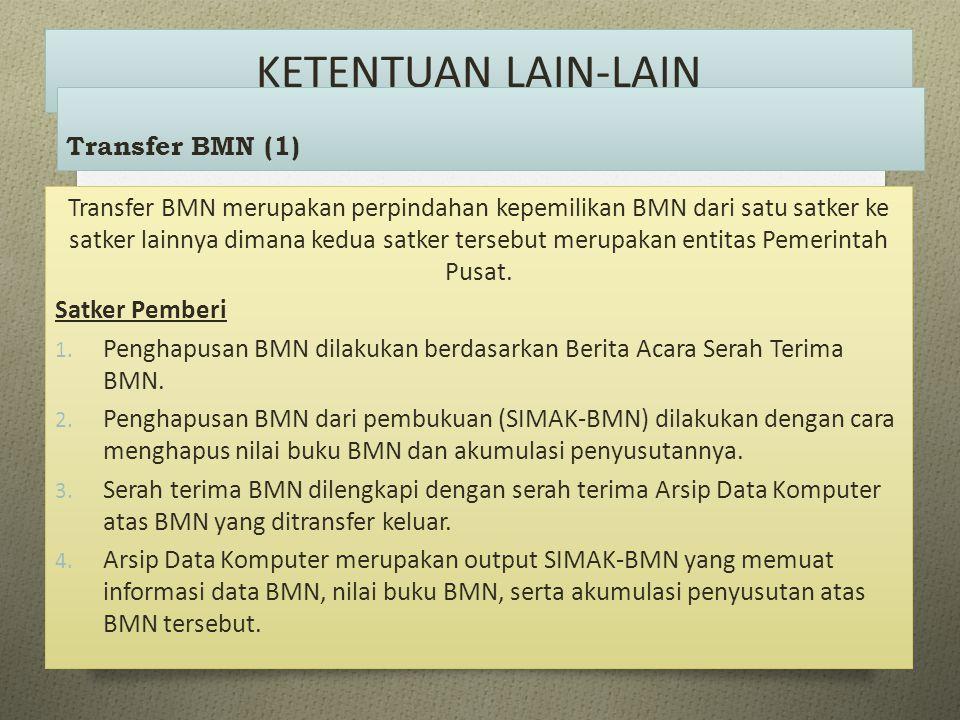 KETENTUAN LAIN-LAIN Transfer BMN (1)