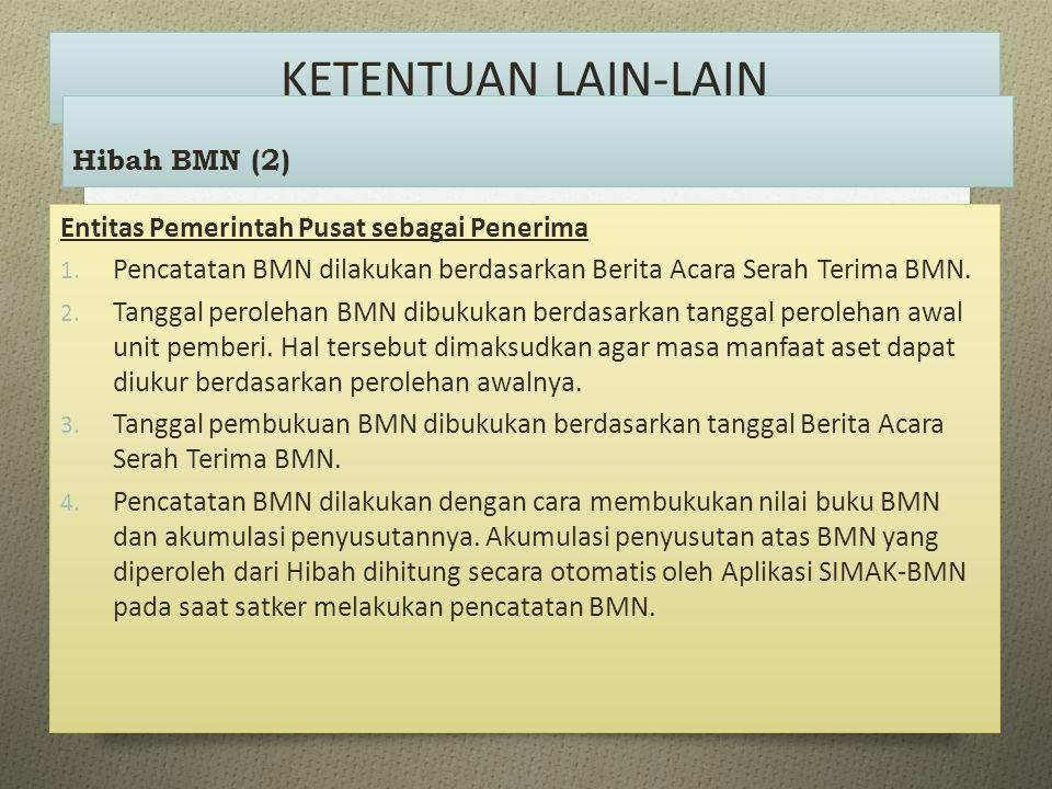 KETENTUAN LAIN-LAIN Hibah BMN (2)