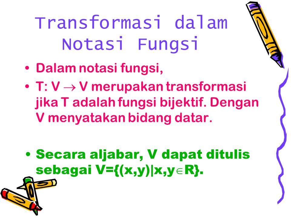 Transformasi dalam Notasi Fungsi