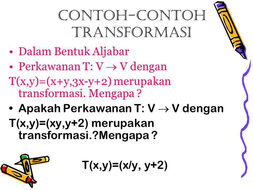 Contoh-contoh transformasi