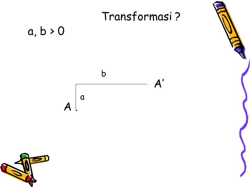 Transformasi a, b > 0 b A' a A .