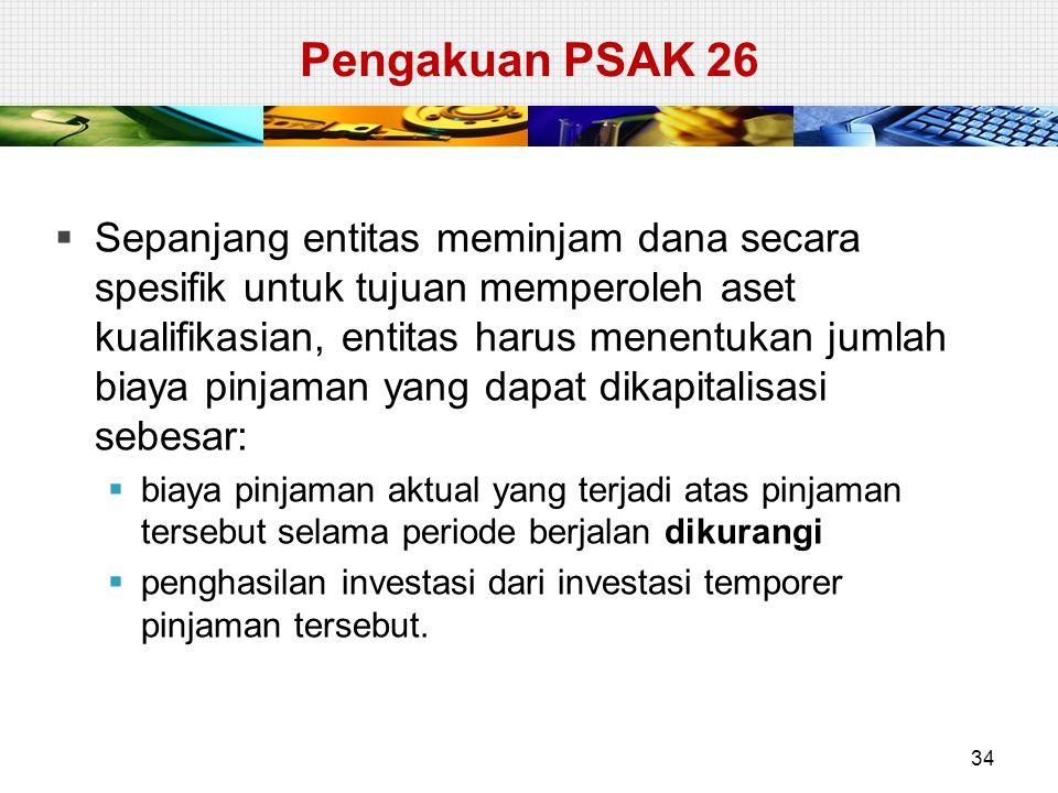Pengakuan PSAK 26