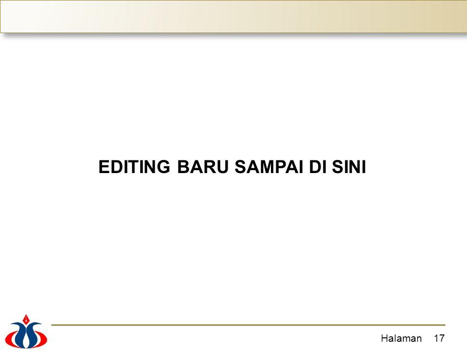 EDITING BARU SAMPAI DI SINI