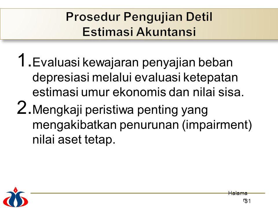 Prosedur Pengujian Detil Estimasi Akuntansi