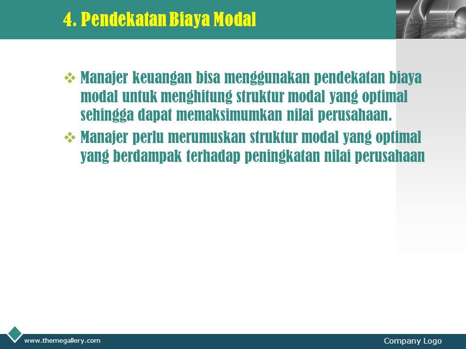 4. Pendekatan Biaya Modal