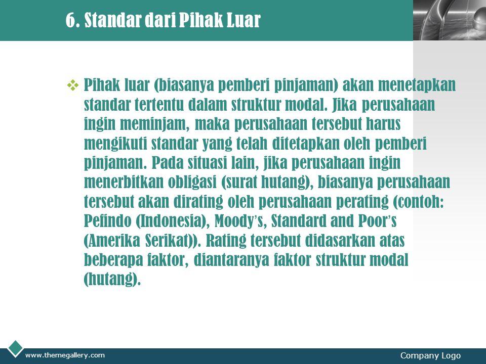 6. Standar dari Pihak Luar