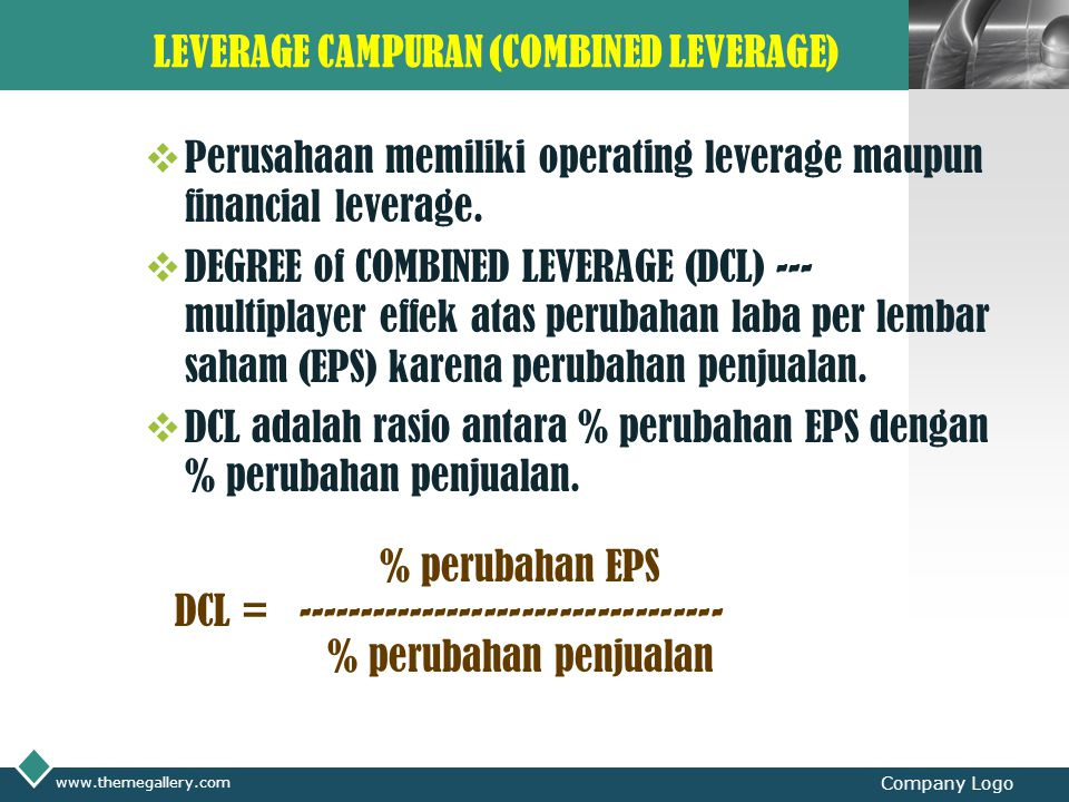 LEVERAGE CAMPURAN (COMBINED LEVERAGE)