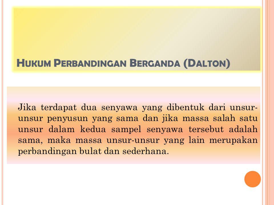 Hukum Perbandingan Berganda (Dalton)