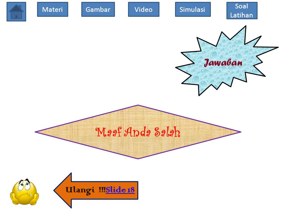 Jawaban Maaf Anda Salah Ulangi !!!Slide 18