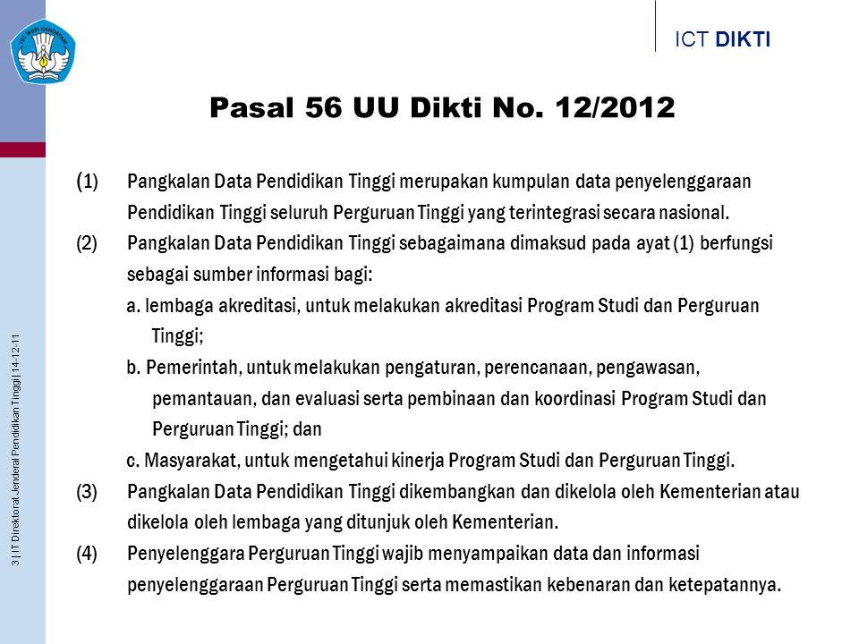 Pasal 56 UU Dikti No. 12/2012
