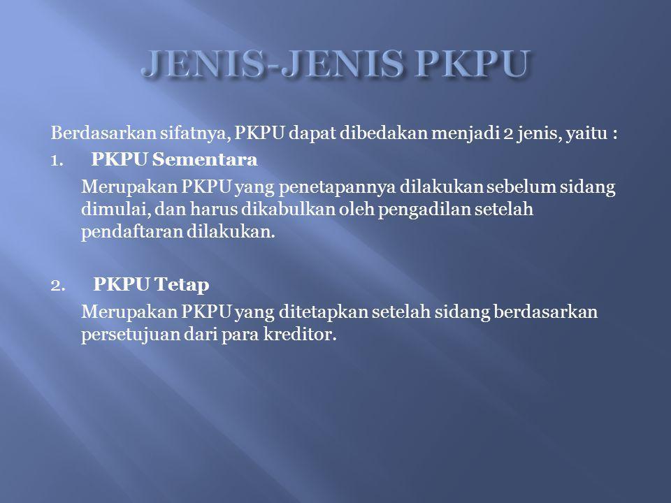 JENIS-JENIS PKPU