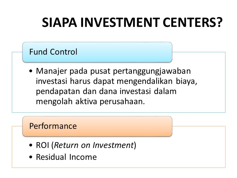 SIAPA INVESTMENT CENTERS