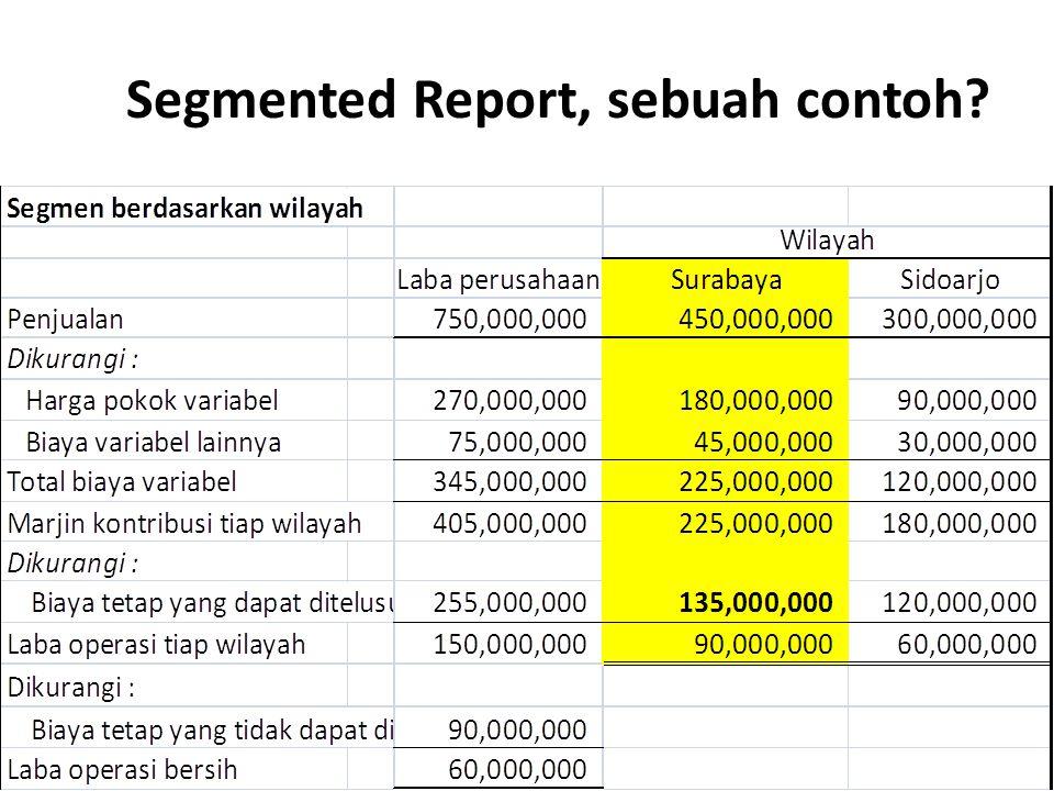 Segmented Report, sebuah contoh