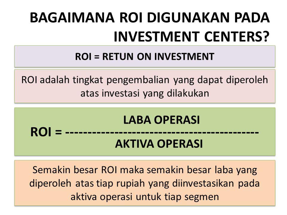 BAGAIMANA ROI DIGUNAKAN PADA INVESTMENT CENTERS
