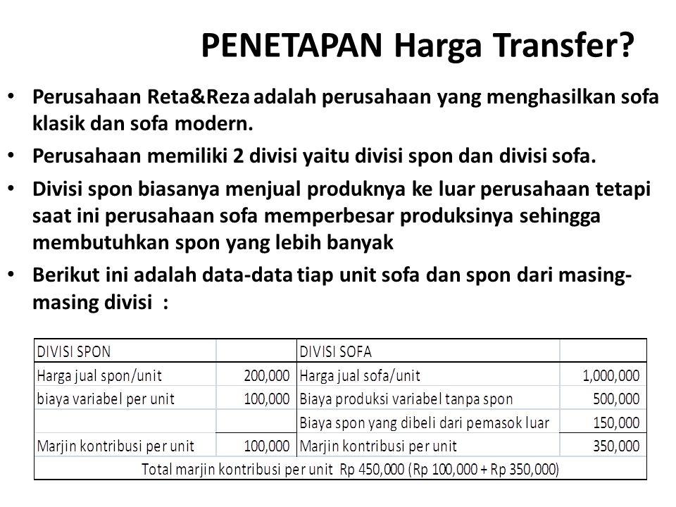 PENETAPAN Harga Transfer
