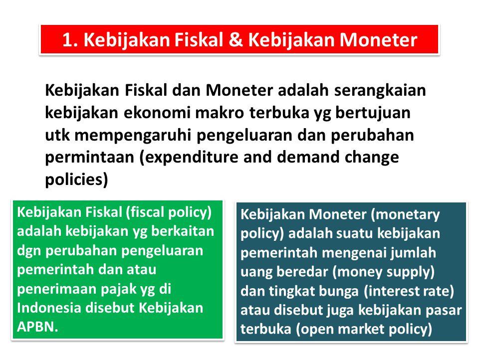 1. Kebijakan Fiskal & Kebijakan Moneter