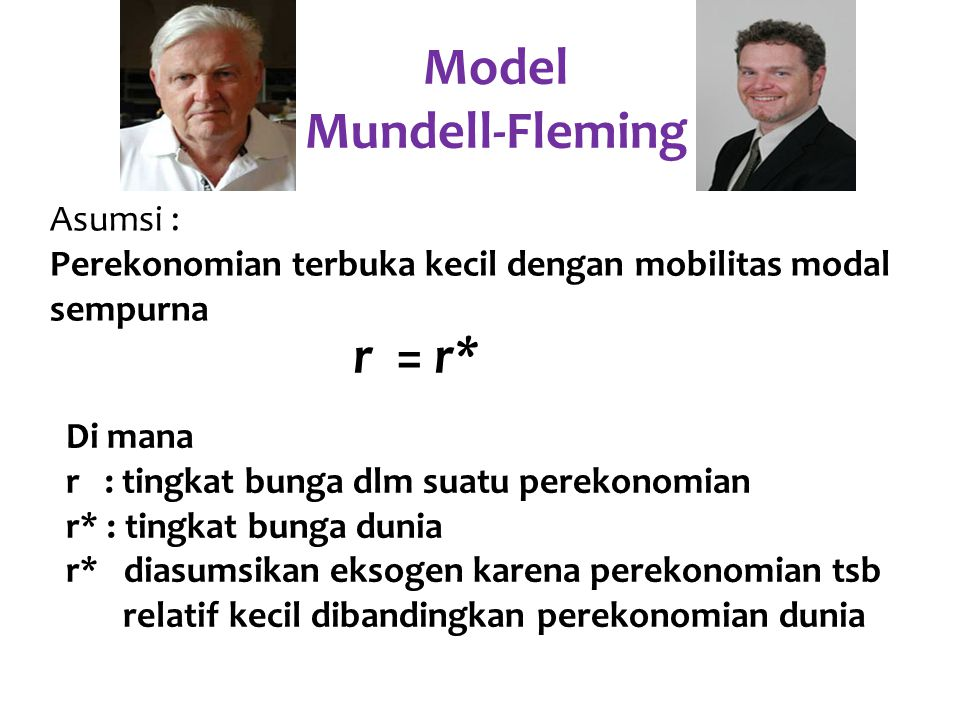 Model Mundell-Fleming r = r*