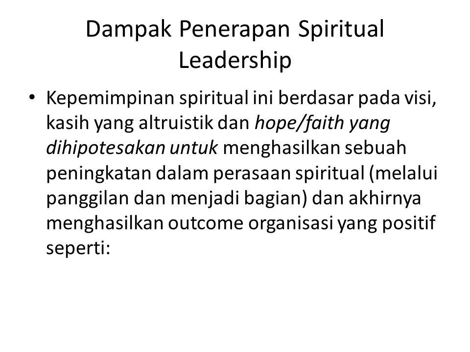 Dampak Penerapan Spiritual Leadership