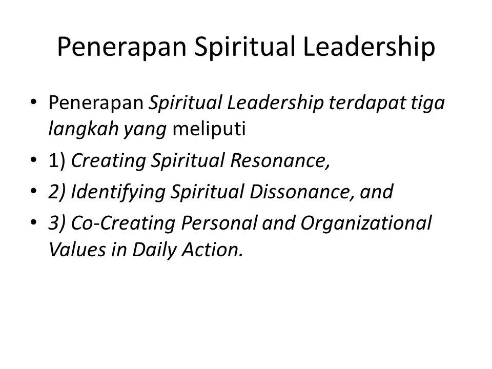 Penerapan Spiritual Leadership