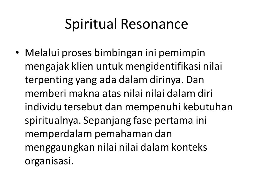 Spiritual Resonance
