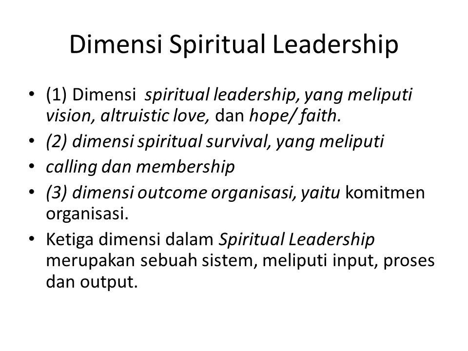 Dimensi Spiritual Leadership