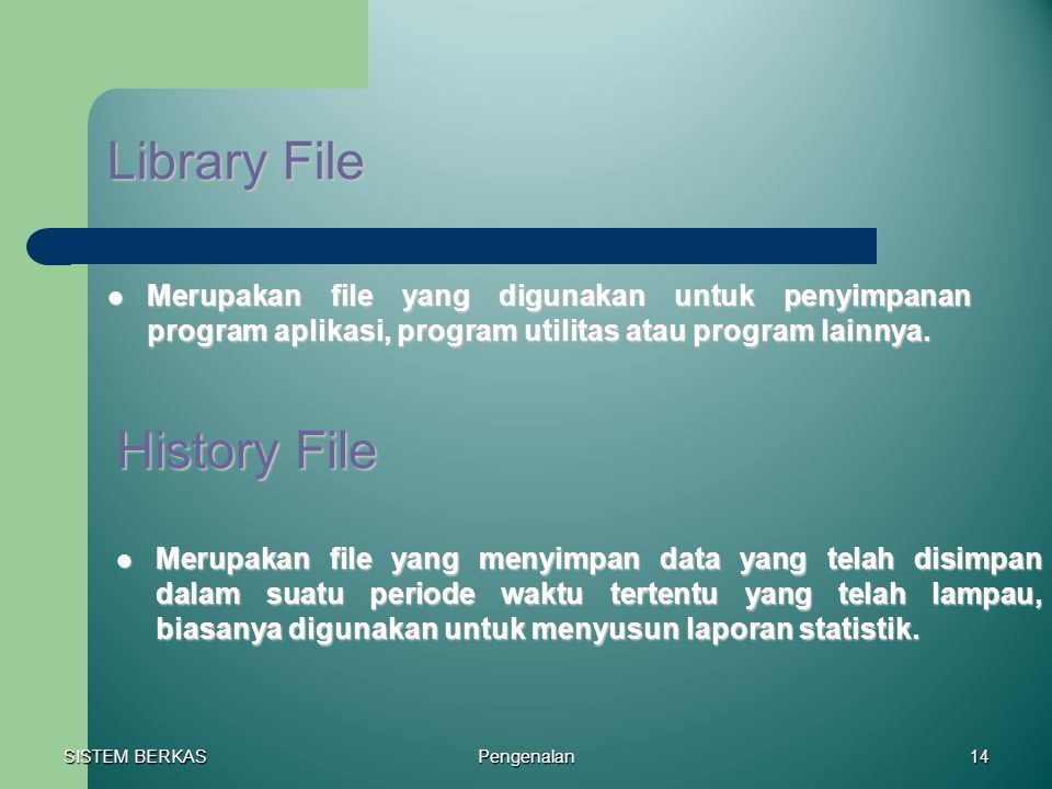 Library File History File