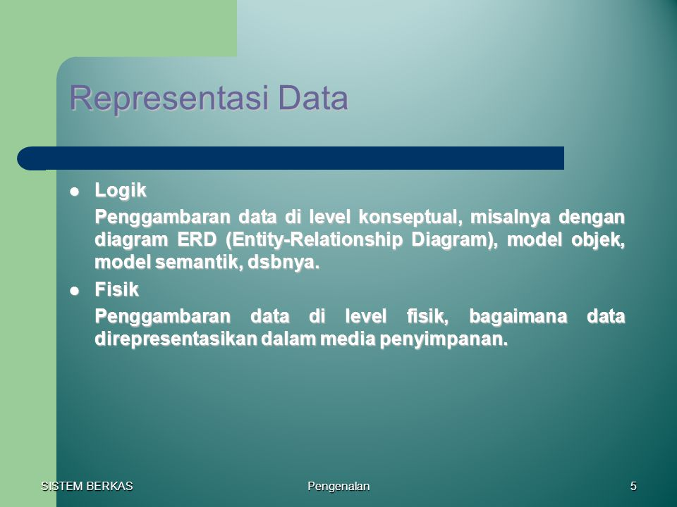Representasi Data Logik