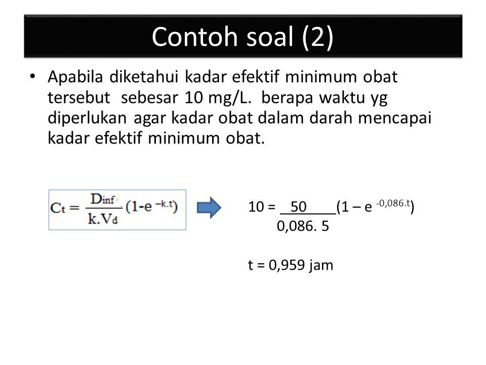 Contoh soal (2)