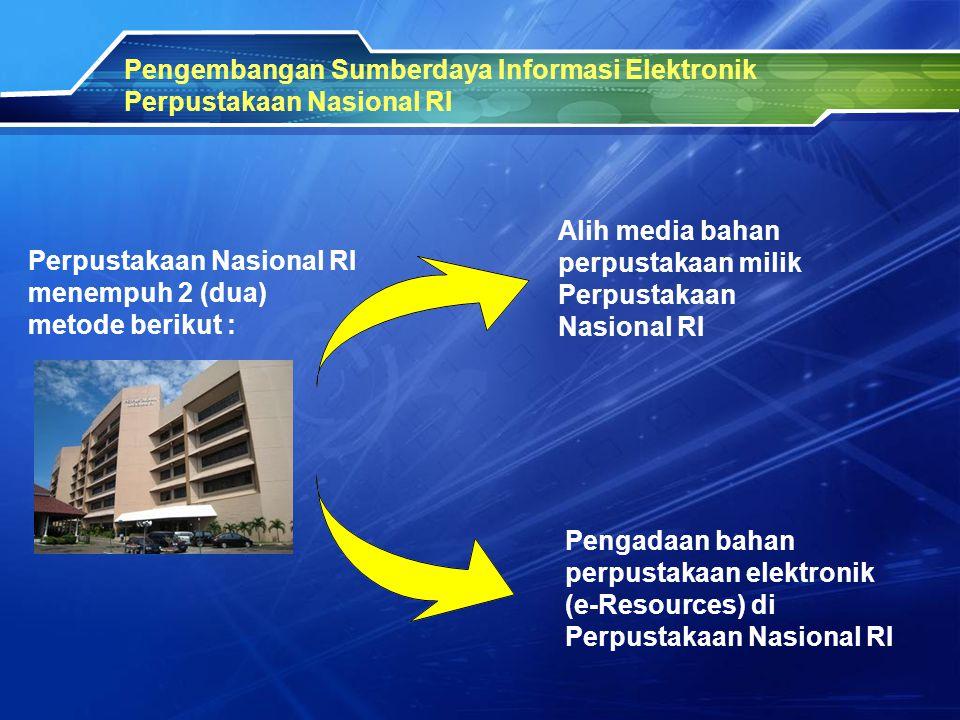 Pengembangan Sumberdaya Informasi Elektronik