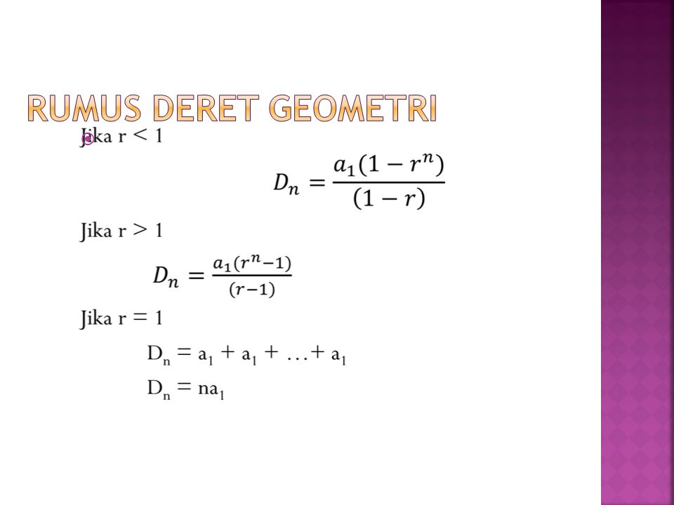 Rumus Deret Geometri