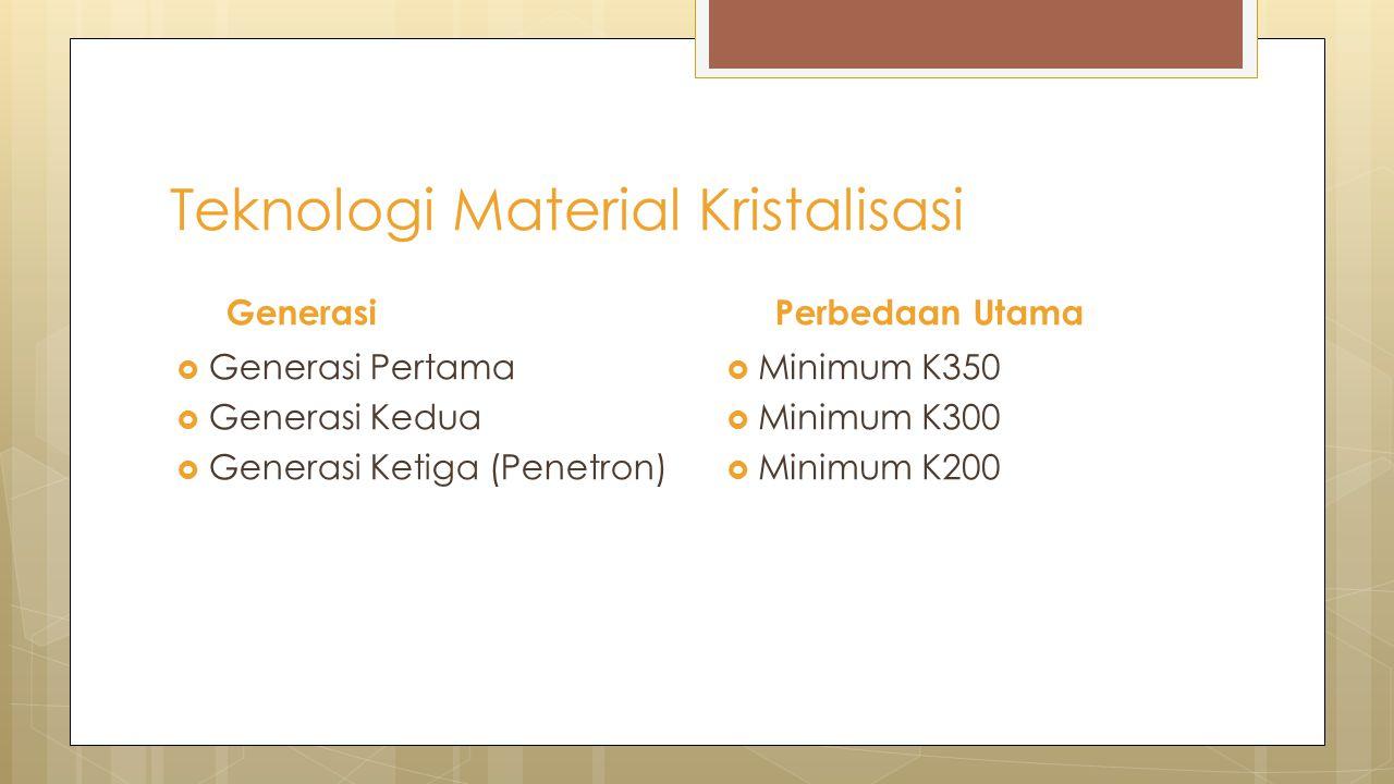 Teknologi Material Kristalisasi