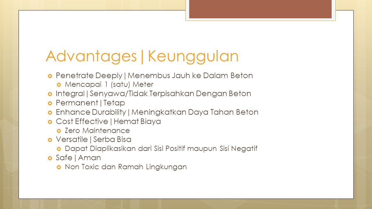 Advantages|Keunggulan