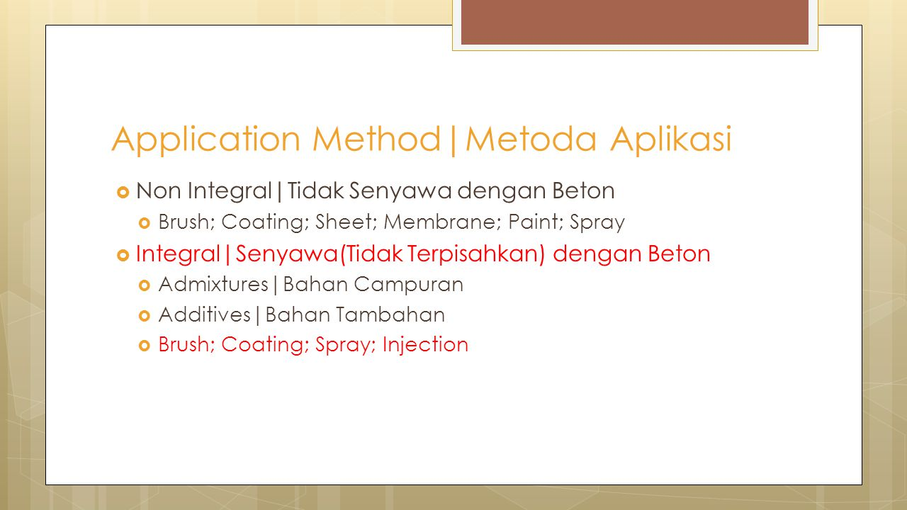 Application Method|Metoda Aplikasi