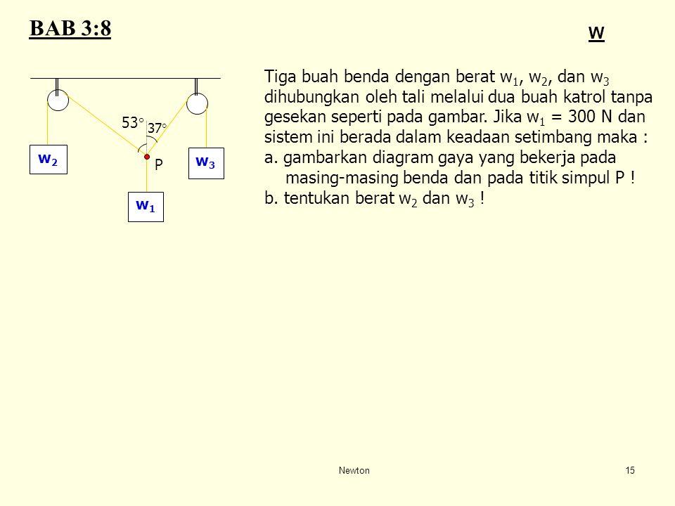 BAB 3:8 W Tiga buah benda dengan berat w1, w2, dan w3