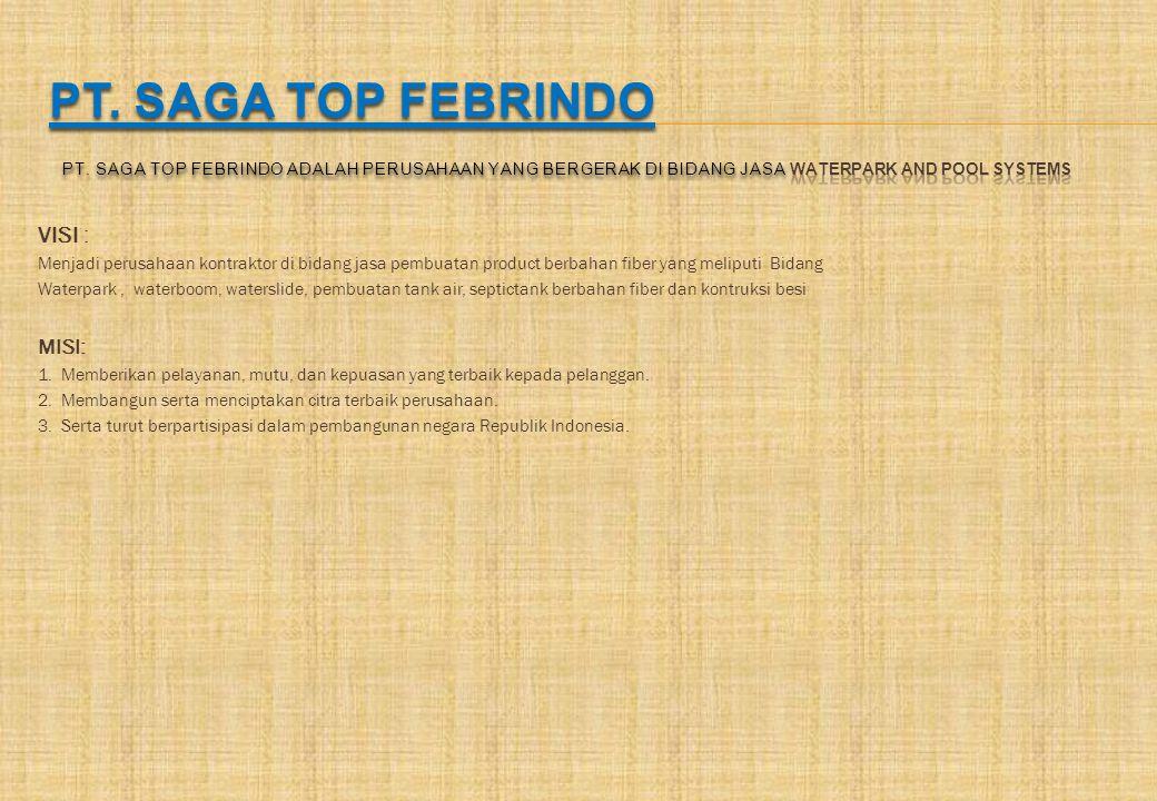 PT. SAGA TOP FEBRINDO PT. saga top febrindo adalah perusahaan yang bergerak di bidang jasa Waterpark And Pool Systems