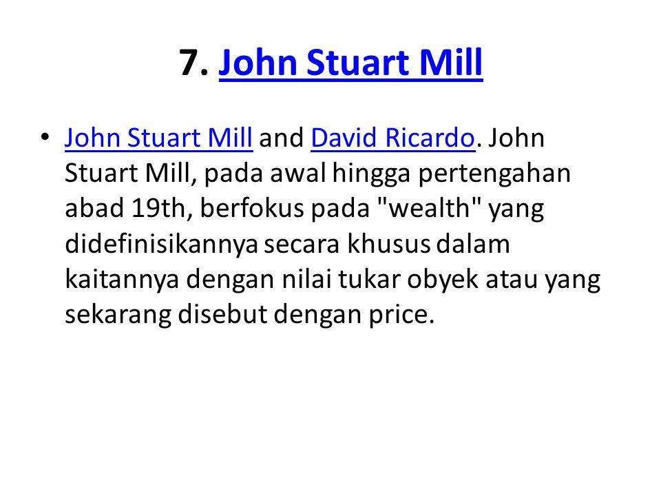 7. John Stuart Mill