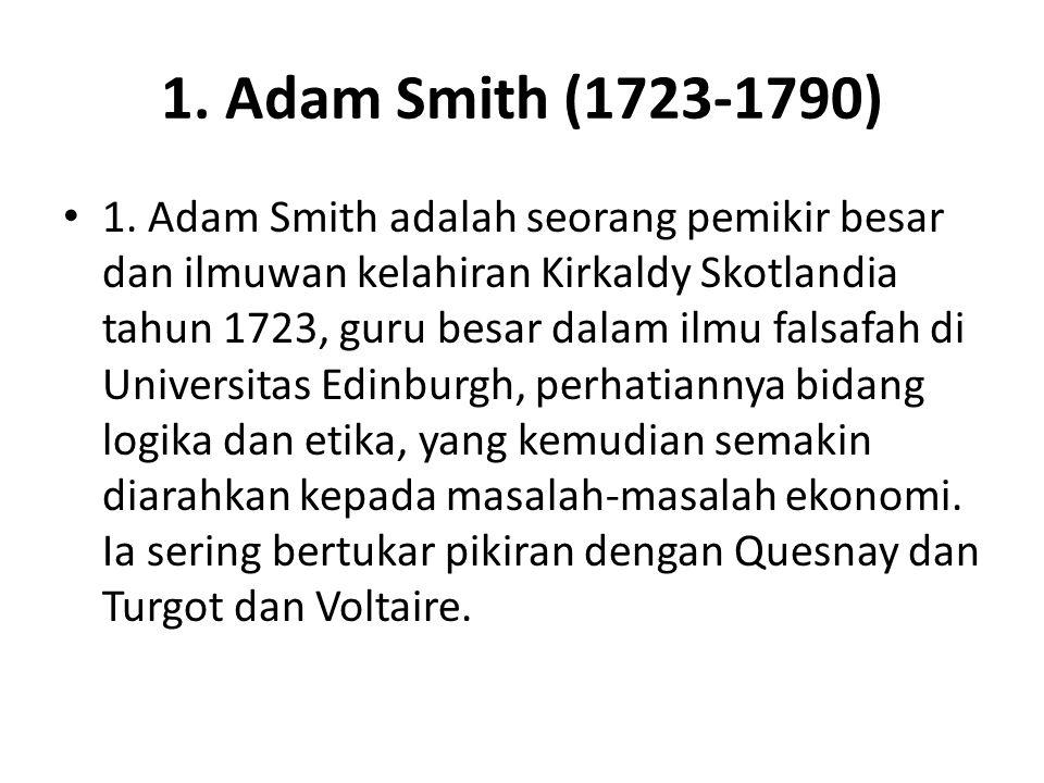 1. Adam Smith (1723-1790)