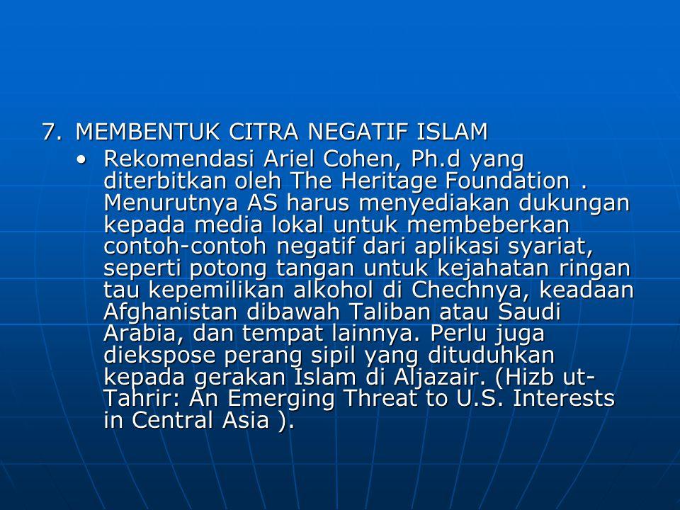MEMBENTUK CITRA NEGATIF ISLAM