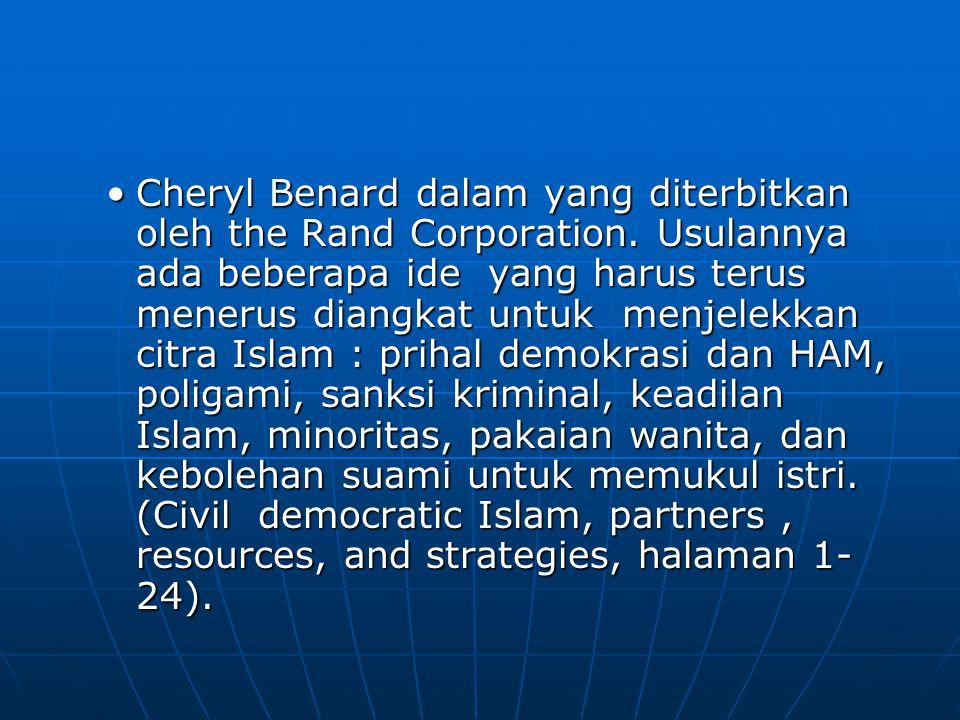 Cheryl Benard dalam yang diterbitkan oleh the Rand Corporation