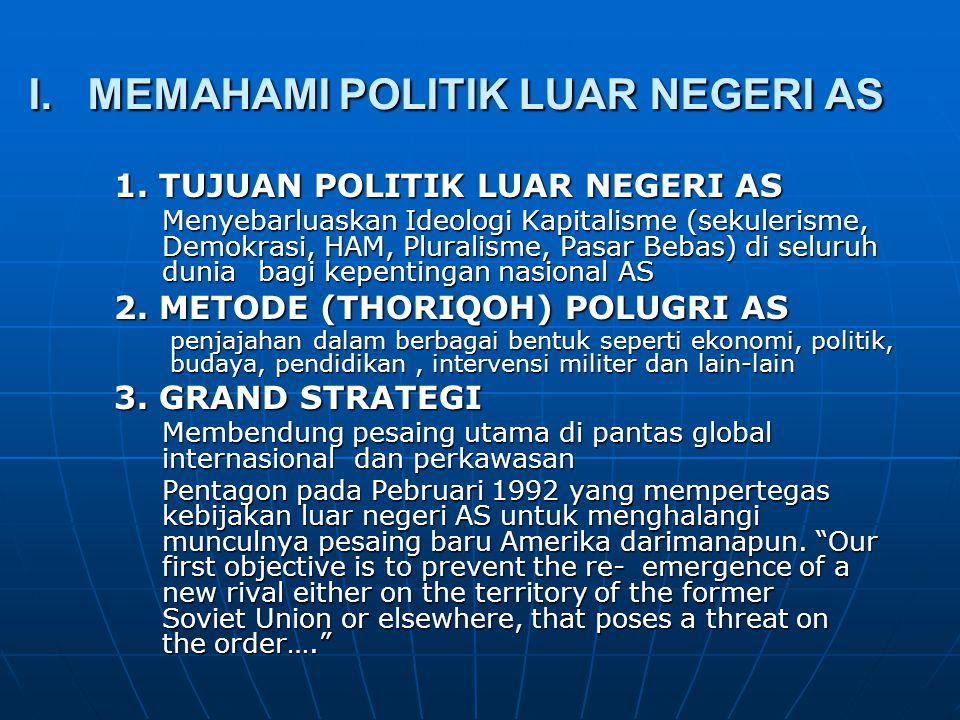 I. MEMAHAMI POLITIK LUAR NEGERI AS