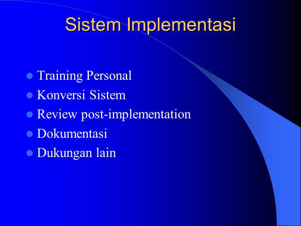 Sistem Implementasi Training Personal Konversi Sistem