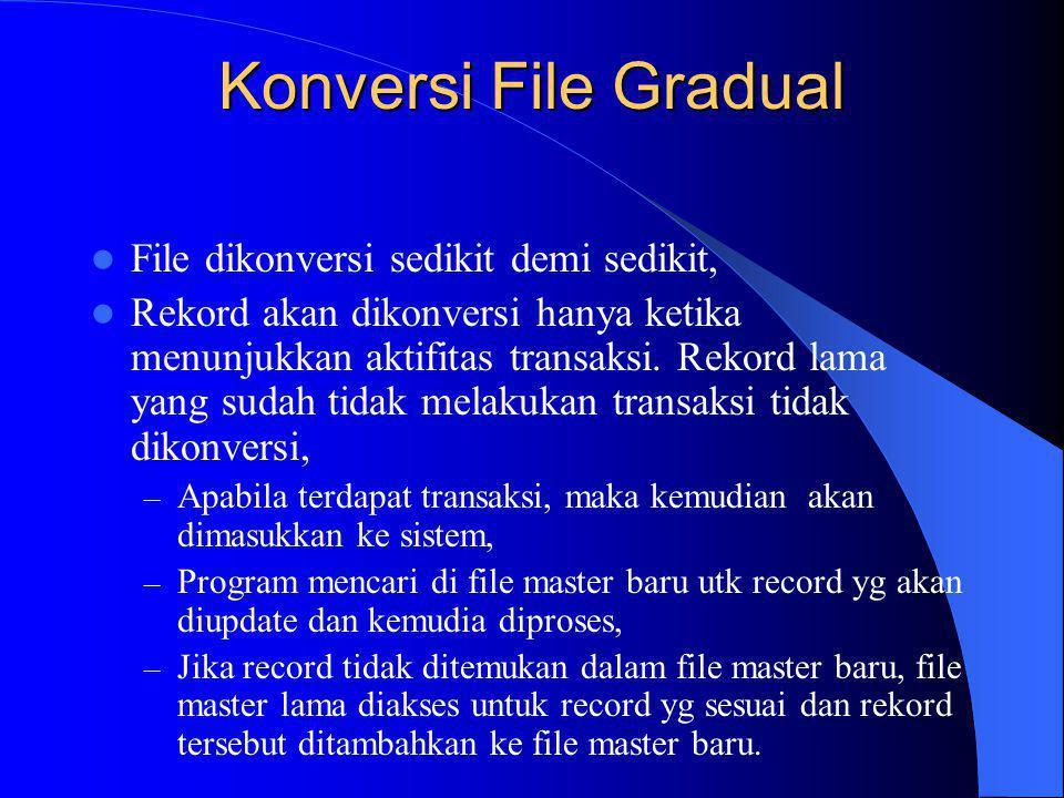 Konversi File Gradual File dikonversi sedikit demi sedikit,