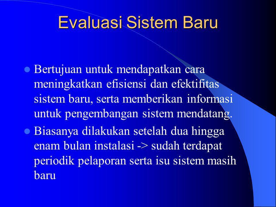 Evaluasi Sistem Baru