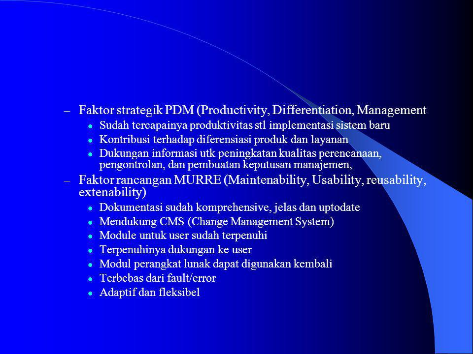 Faktor strategik PDM (Productivity, Differentiation, Management